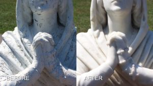 Carrera Statue Restored